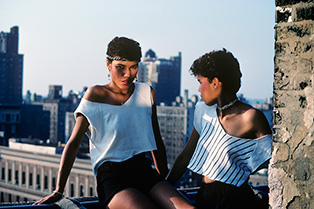 Lopez Sisters on the Roof, New York, NY, 1977-1985,